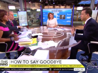 John Avlon John Avlon Discusses George Washington's Farewell Speech and it's Relevance Today – CBS