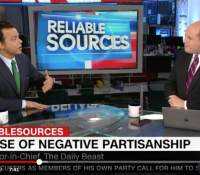 John Avlon Middle Ground Lost to 'Negative Partisanship' – Reliable Sources