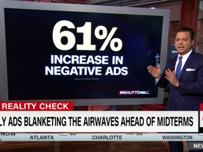 John Avlon Negative campaign ads up 61% since 2014 – Reality Check with John Avlon – CNN