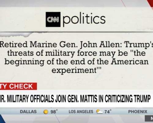 John Avlon Why it matters that former military leaders spoke out – CNN