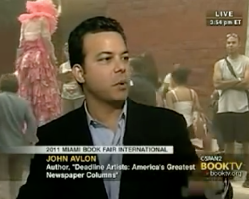 John Avlon Book TV Interviews John Avlon on Deadline Artists